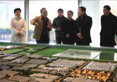 安徽省宣城市副市长汪谦慎考察宿迁工业园区
