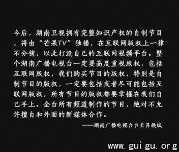 湖南卫视豪赌视频阵地:版权节目独播不分销