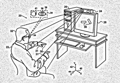 苹果新专利�耪ㄌ欤∫桓鲅凵穸�就能操控屏幕