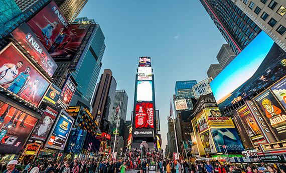 纽约时代广场有着世界上最贵的广告牌-登上时代广场没有那么高大上