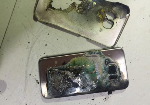 手机充电一晚烧糊被窝,女大学生三星S7手机自燃