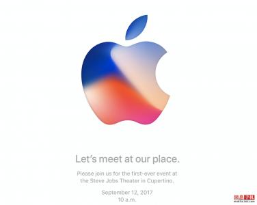 苹果秋季发布会邀请函:9月12日乔布斯剧院举行