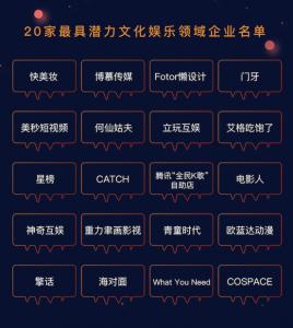 【线上活动】金芯潜力榜第三期:文化娱乐专场