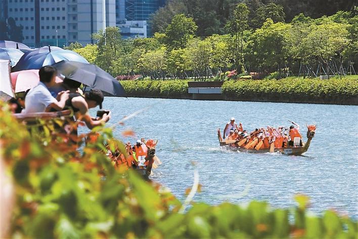 争渡!争渡!中国硅谷之一深圳上演龙舟竞速!