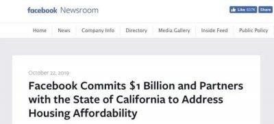 美国硅谷房价高到工程师都住不起 脸书谷歌出资