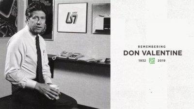 美国硅谷传奇红杉资本创始人Don Valentine在加州逝世
