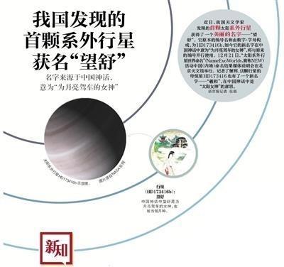 发现行星望舒 中国发现首颗系外行星被命名望舒