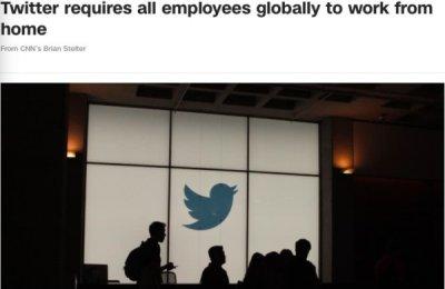 推特twitter宣布全球所有员工远程在线办公应对疫情