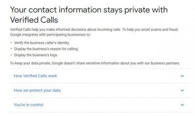 """谷歌帮助页面新增 """"已验证呼叫""""功能对付骚扰电话"""