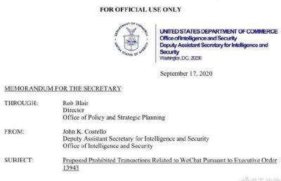 腾讯提交美国和解建议显示将创建美国版微信App