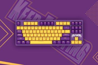 KEEP FIGHTING �达尔优发布A87紫金版樱桃轴机械键盘