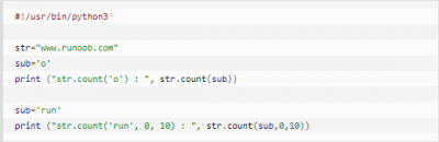 云计算技术开发教程:Python3-count()方法详解